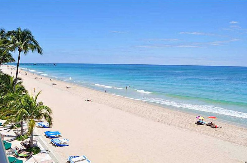 Beach views here in Galt Ocean Mile from a condo here in Plaza South