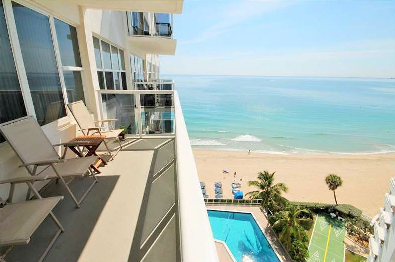Oceanfront views from Fort Lauderdale condo for sale in Royal Ambassador