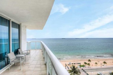 Ocean and Beach views from this Fort Lauderdale condo for sale