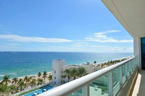 Beach views from a Fort Lauderdale condo for sale