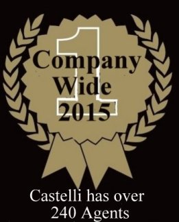Kevin Wirth #1 Agent Company wide 2015 - In 2015 Castelli had over 240 Agents