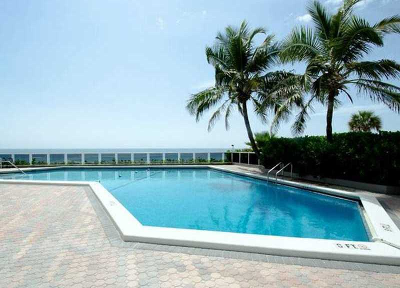 Pool views from a condo for sale in Royal Ambassador on Galt Ocean Mile