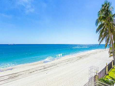 Stunning ocean and beach views from a Galt Ocean Mile condo for sale in Plaza East