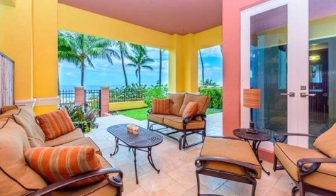 Terrace views from a 3 bedroom Fort Lauderdale oceanfront condo for sale
