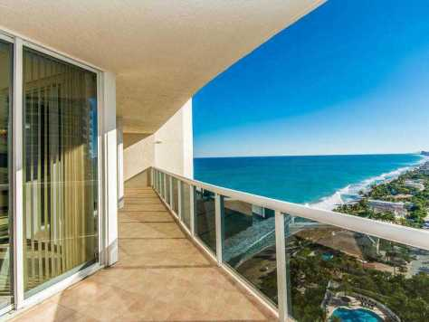 Views from a Fort Lauderdale oceanfront condo for sale on Galt Ocean Mile