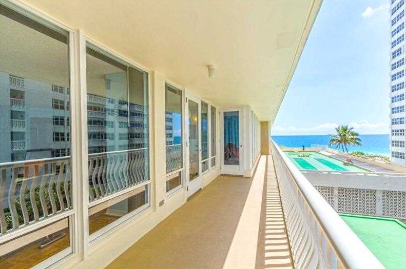 Oceanfront views from a Fort Lauderdale condo for sale in Ocean Club