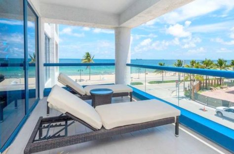 View from a 1 bedroom oceanfront condo for sale Fort Lauderdale