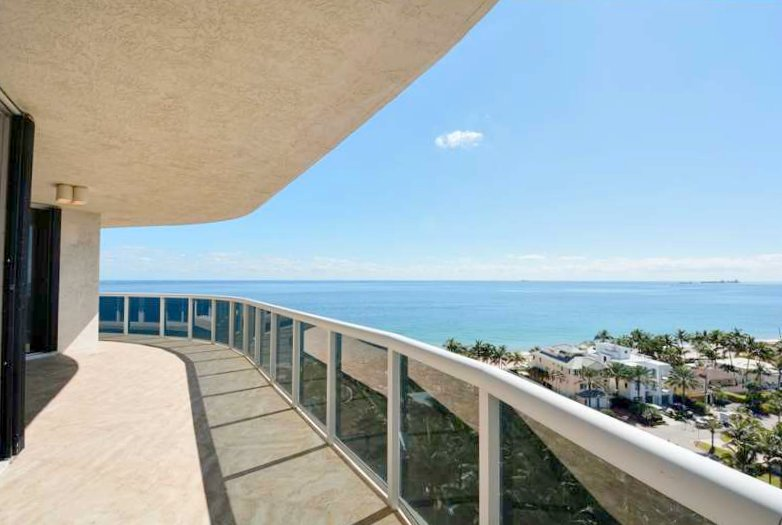 Superb ocean views from one of the L'Hermitage condos for sale here in Fort Lauderdale