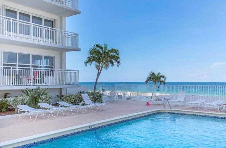 Pool views from one of the Regency Tower South condos for sale here in Fort Lauderdale FL