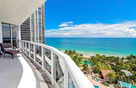 View from a luxury Galt Ocean Mile condo for sale in L'Hermitage