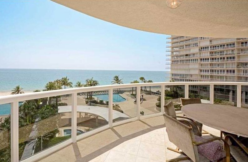 Ocean views from one of the L'Ambiance condos for sale Fort Lauderdale