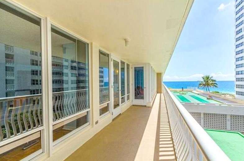 View from one of the Ocean Club condo for sale Fort Lauderdale