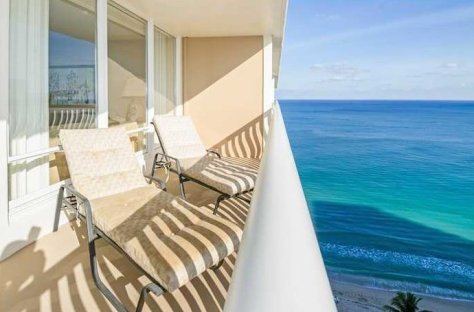 Terrace at an Ocean Club condo for sale here on Galt Ocean Mile in Fort Lauderdale