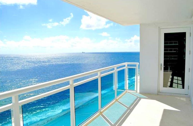 Oceanfront views from one of The Commodore Condos for sale Fort Lauderdale