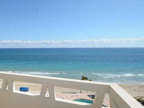 Look at the views from this Fort Lauderdale oceanfront condo for sale in Fountainhead