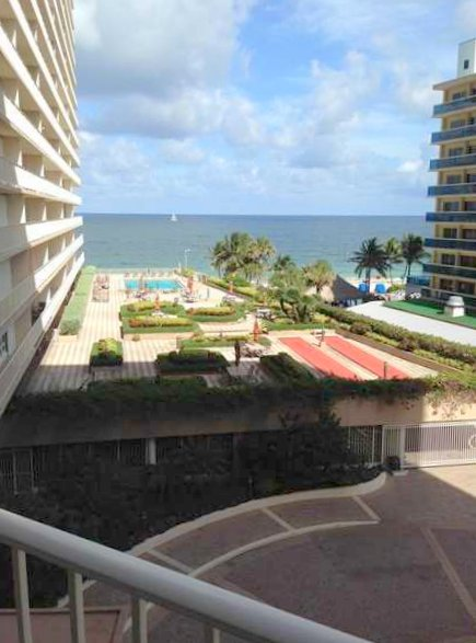 View from a 1 bedroom Galt Ocean Mile condo pending sale in The Galleon