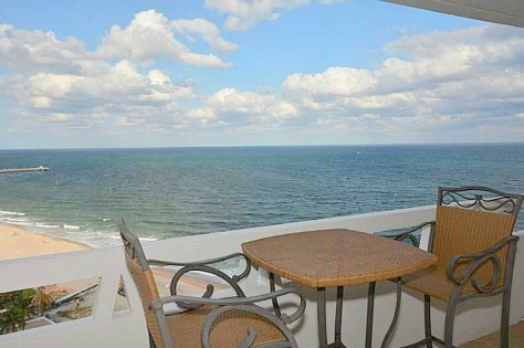 View from a Galt Ocean Mile direct oceanfront condo recently sold here in Fountainhead Fort Lauderdale