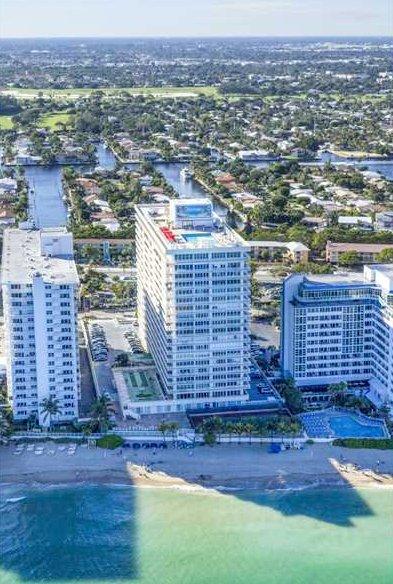 Aerial view Ocean Club condominium Galt Ocean Mile Fort Lauderdale