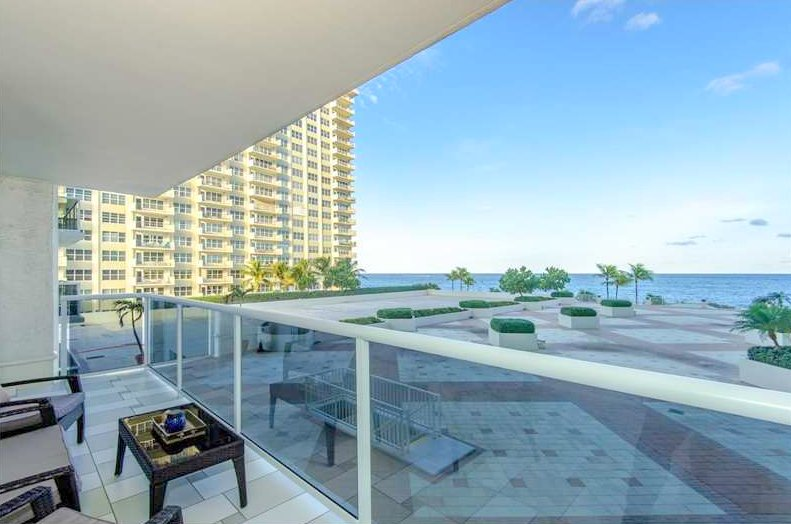 View from one of the Playa del Sol condos for sale Fort Lauderdale
