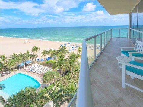 View of a Fort Lauderdale oceanfront condo for sale in Coconut Grove