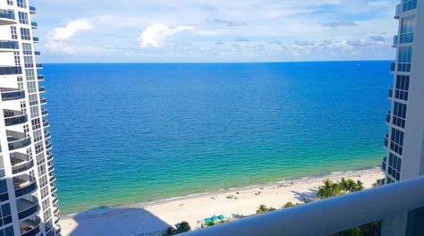 View from a 3 bedroom Galt Ocean Mile condo for sale in L'Hermitage