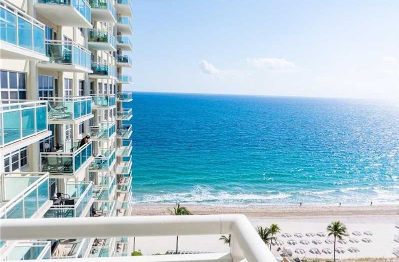 View from one of the Fort Lauderdale condos for sale Playa del Mar