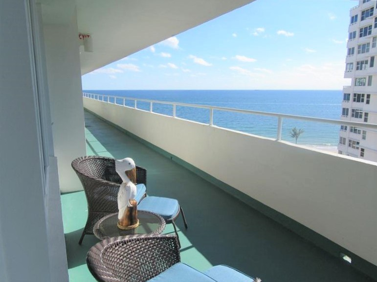 View from one of the Caribe condos Lauderdale by the Sea - 4050 N Ocean Drive Fort Lauderdale FL
