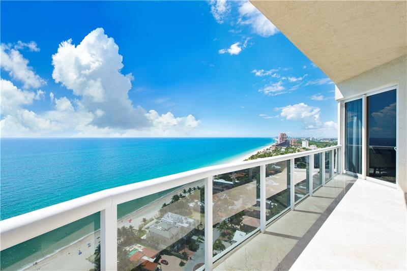 View from one of the L'Hermitage Galt Ocean Mile condos for sale - 3100 N Ocean Blvd, Fort Lauderdale, FL 33308,