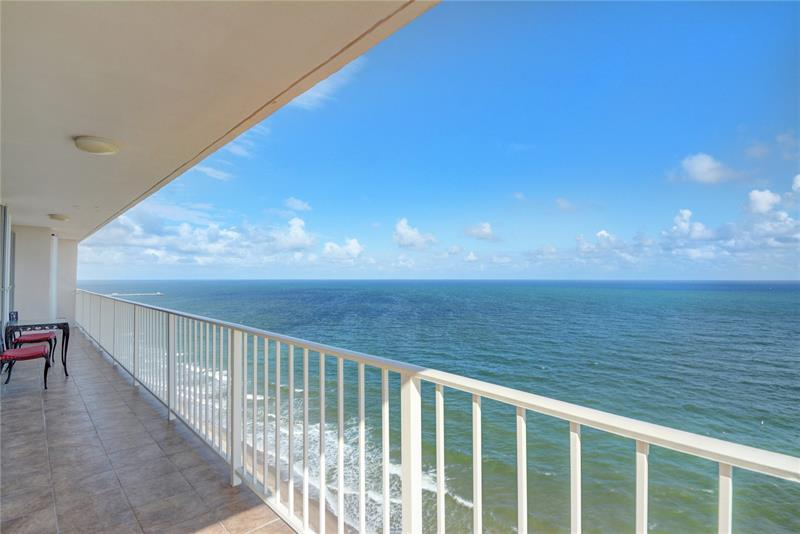 View from one of The Galleon Galt Ocean Mile condos for sale 4100 Galt Ocean Drive Fort Lauderdale