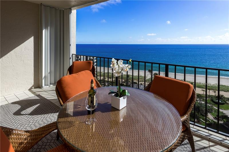 View from one of the Sea Ranch Lakes North condos Lauderdale by the Sea 5100 N Ocean Blvd Fort Lauderdale!