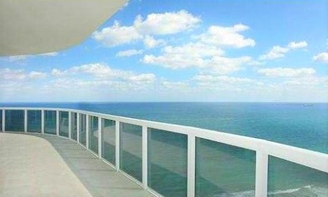 View from the most expensive L'Hermitage Fort Lauderdale condo sold in 2017