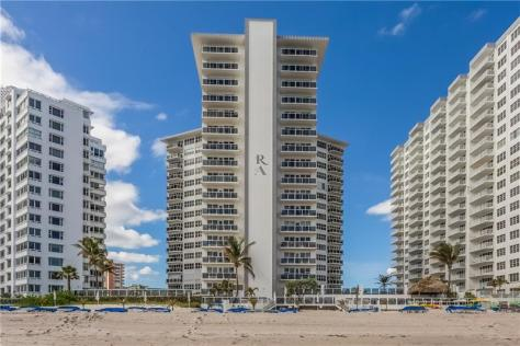 View Royal Ambassador condominium 3700 Galt Ocean Drive Fort Lauderdale - taken from Galt Ocean Mile Beach