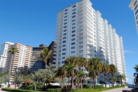 View Regency Tower South condominium taken from Galt Ocean Drive Fort Lauderdal
