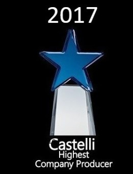Kevin Wirth Realtor - Awarded Castelli's Highest Company Producer 2017