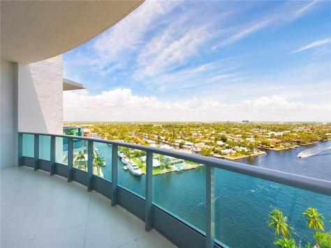 Look at the views from this Fort Lauderdale waterfront condo for sale