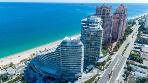 Aerial view Fort Lauderdale condos for sale - including new construction units in Auberge!