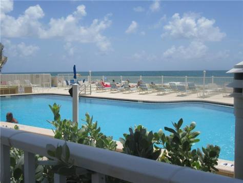 Pool views Caribe condo for sale 4050 N Ocean Drive Lauderdale by the Sea