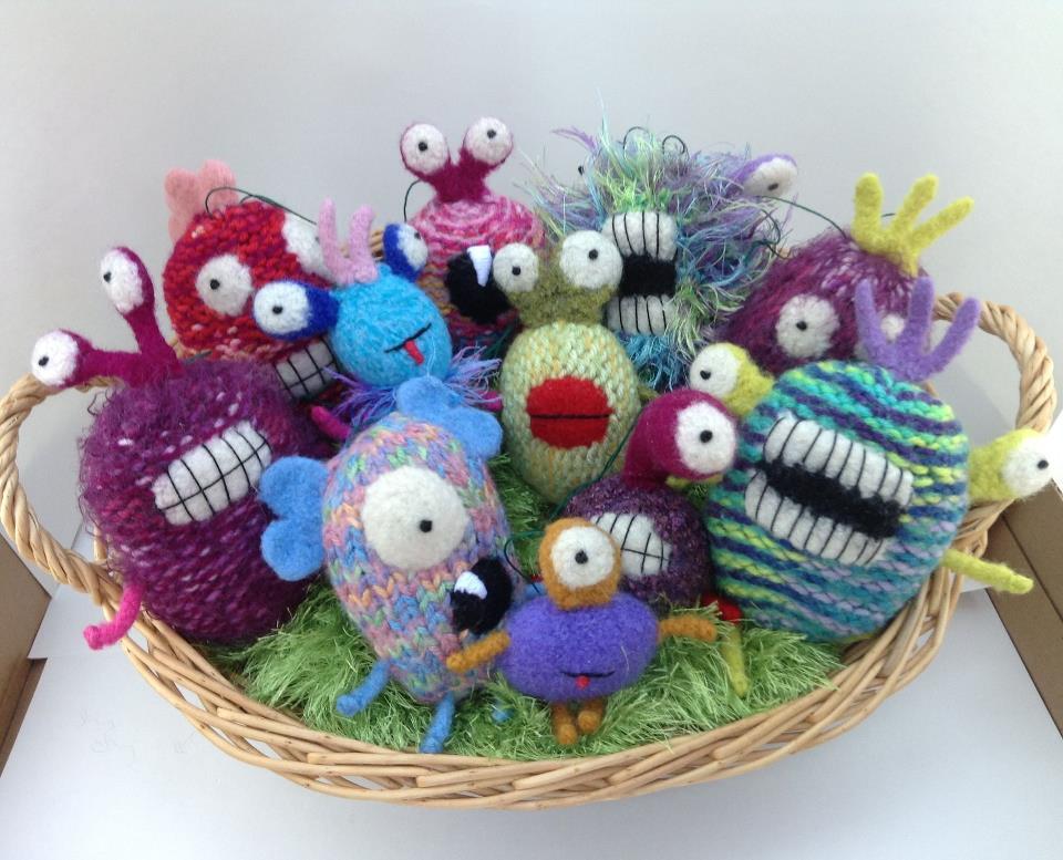 Art Jennifer Berger ornaments basket of monster ornaments 2