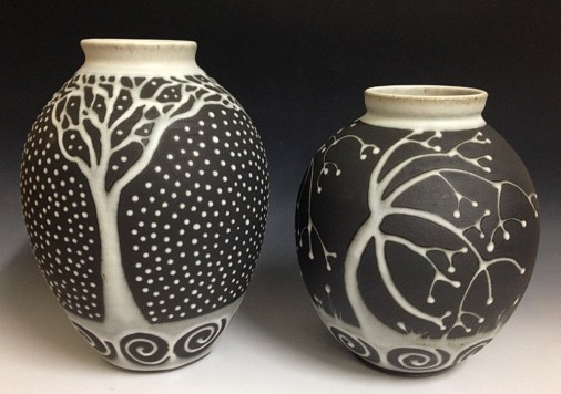 Kristy Jo Beber 2015 two tree vessels Black and White