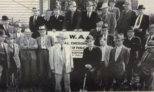 Mayor Baals w shovel Sept 9, 1938