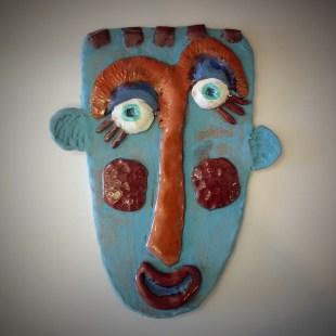 Art Paula Crill 2016 Clay Face blue