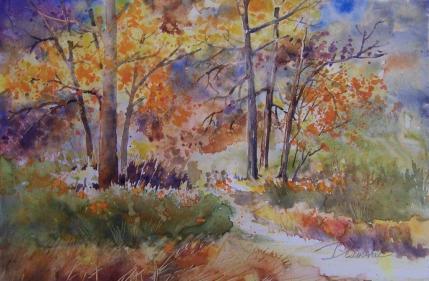 art Lynn Diamente 2015 Fall Trees 3