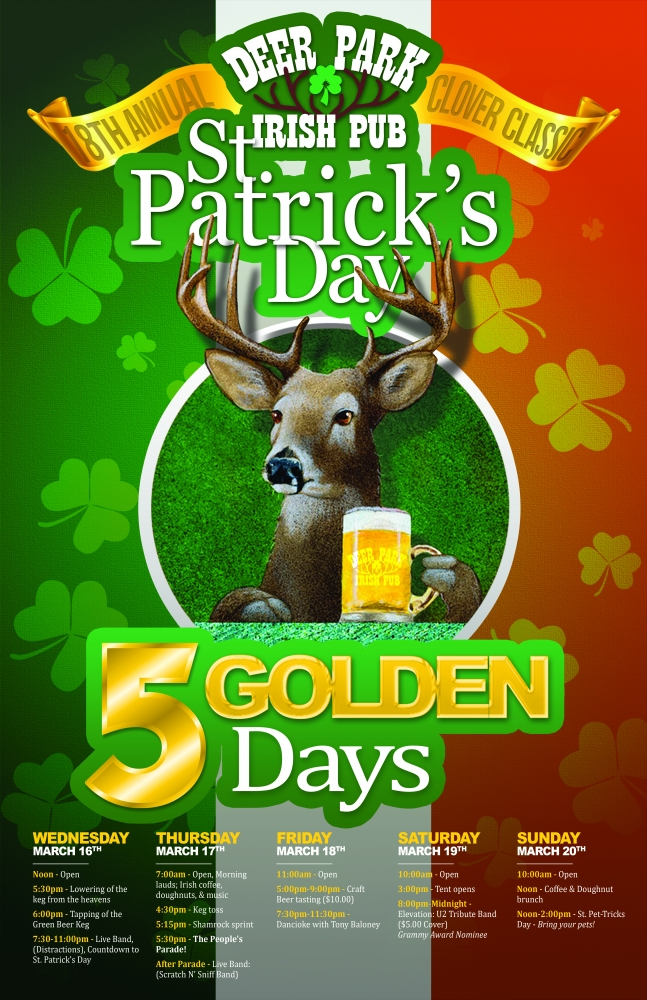 Five Golden Days of Saint Patrick's Celebrations At Deer Park's 18th Annual Clover Classic