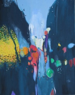 Hamilton Community JrSr H Schl_Farnsworth_Madison_Painting_Rainy Window Of Street Lights