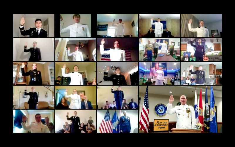 Notre Dame, USFF Commander Commission 52 New Military Officers in Virtual Ceremony