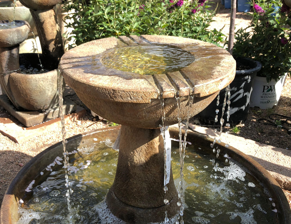 patio fountains and misters fort
