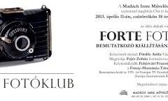 Forte Fotóklub Vác bemutatkozó
