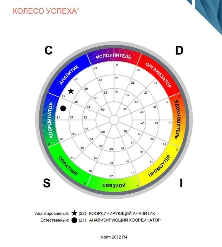 Оценка DISC колесо успеха продажи
