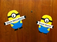 My first craft. Dispiciable Me Minion Door Decorations ...