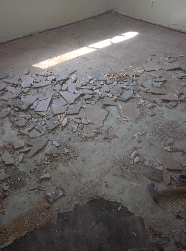 linoleum tile removal